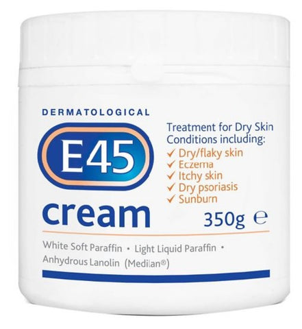E45 Dermatological Cream, 350g (BULK PACK OF 6 x 350g Pots) by EE