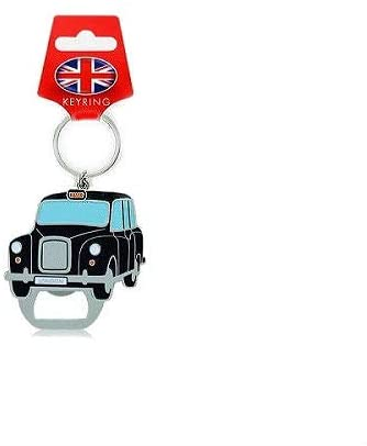 Black London Taxi Bottle Opener Keyring