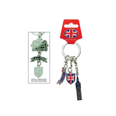 Elgate Big Ben UJ Shield London Scroll Metal Keyring