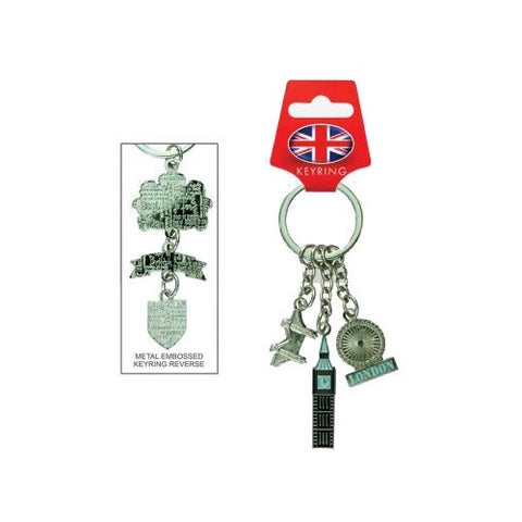 Elgate Big Ben London Eye Tower Bridge Metal Keyring