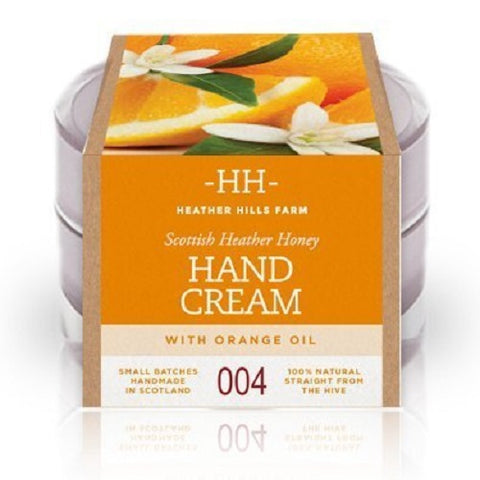 100% Natural Scottish Heather Honey Hand Cream with Sweet Orange Oil by Heather Hills Farm (50g) by Heather Hills Farm