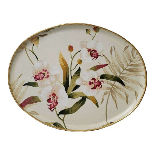 "Keswick's Bayswater Antique Pattern 18""x 14"" (460mm x 360mm) Oval Tray"