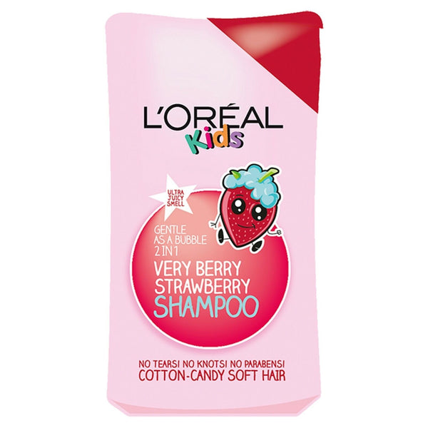 L'Oreal Paris Kids Extra Gentle 2-in-1 Very Berry Strawberry Shampoo, 250ml (Pack of 6)