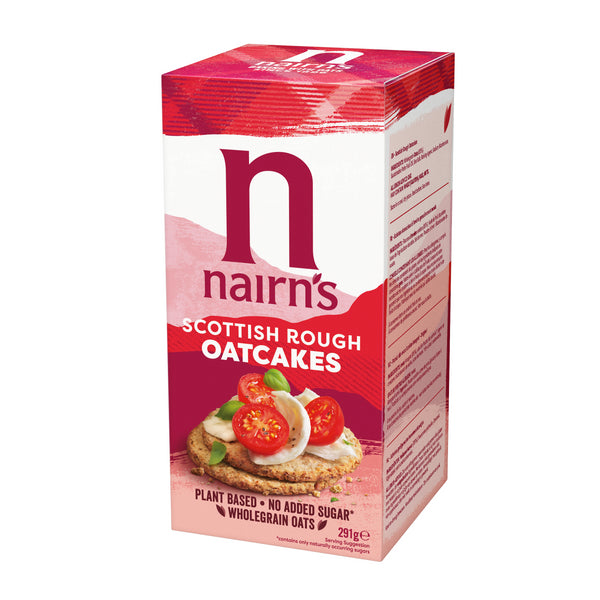 (4 PACK) - Nairns Rough Oatcake| 291 g |4 PACK - SUPER SAVER - SAVE MONEY - British Food Supplies