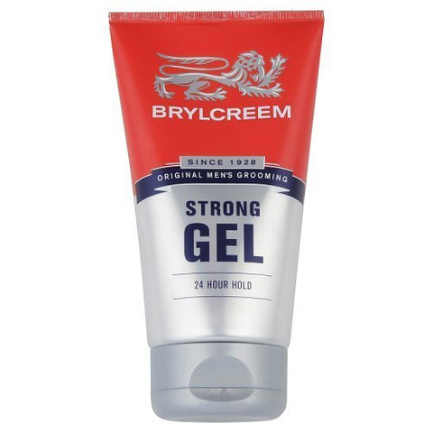 3 X BRYLCREEM STRONG 24 HOUR HOLD GEL 150ml - HAIR STYLING GEL LONG LASTING by Brylcreem by Brylcreem