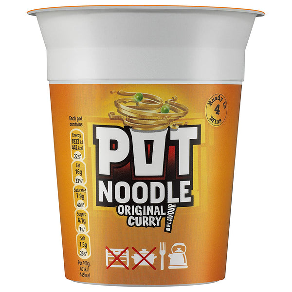 Pot Noodle Original Curry 90g - Pack of 8