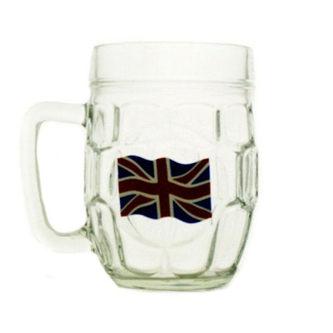Union Jack Dimple Pint Glass