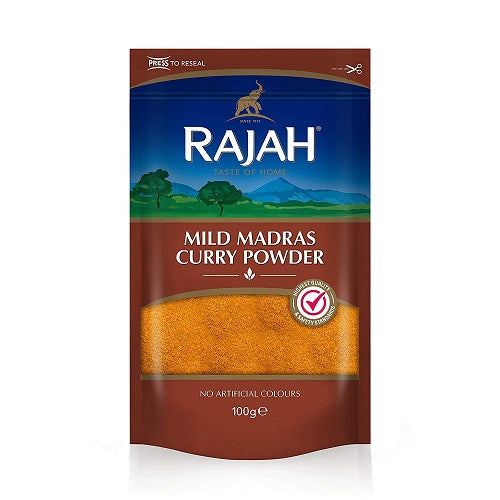 Rajah Mild Madras Curry 100g - 4 Pack