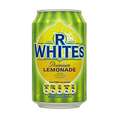 R White, Bev Lemonade Fizzy, 330-ML (24 Pack)