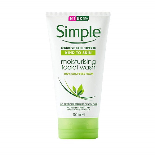 Simple Moisturizing Facial Wash, 5 Ounce (Pack of 2)