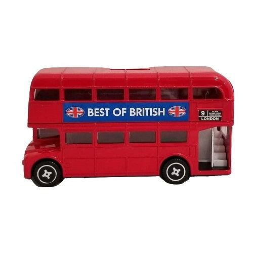 Elgate Die Cast Metal Red London Bus Money Box