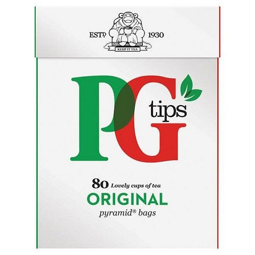 PG tips Black Tea, 80 Count Box 80pyramid tea bags(Pack of 3) - British Food Supplies