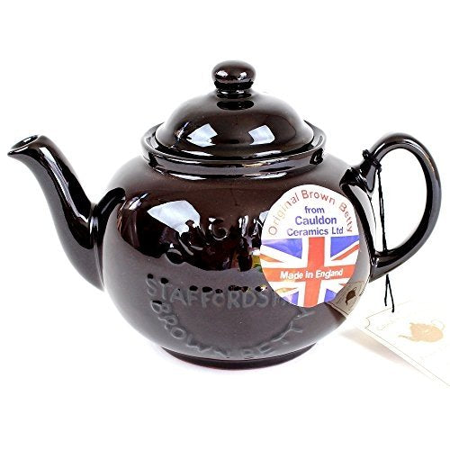 "Handmade Original Brown Betty 4 Cup Teapot with ""Original Staffordshire"" Logo"