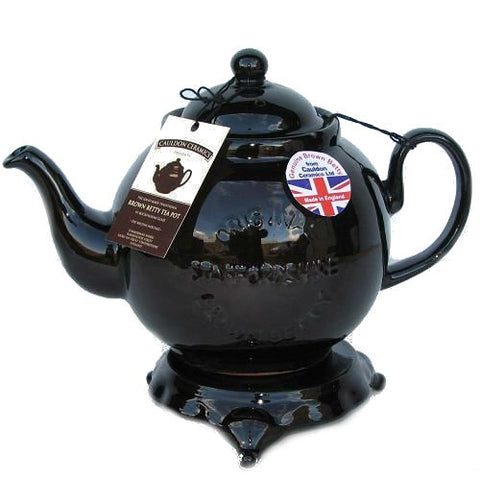 4 Cup Brown Betty Teapot with Logo and Trivet
