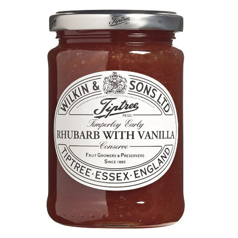 (2 Pack) - Tiptree - Rhubarb with Vanilla Conserve | 340g | 2 PACK BUNDLE
