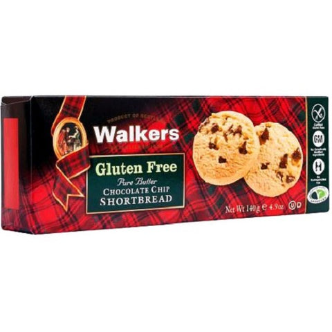 OfficeSnax OFX01021 Walkers Gluten-Free Chocolate Chip Shortbread, Brown