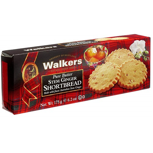 Walkers Shortbread Stem Ginger Shortbread, 6.2 Ounce (Pack of 4)