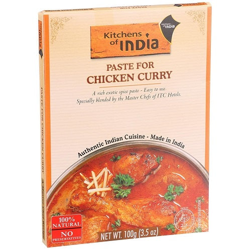 Kitchens of India Paste for Chicken Curry 100g (Pack of 3)