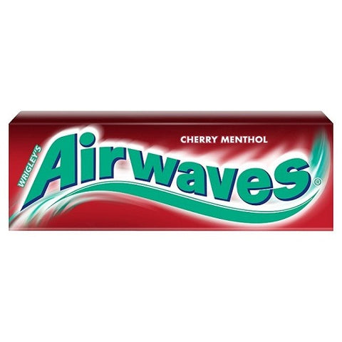 Airwaves Cherry Menthol Gum. Case of 60 Packs