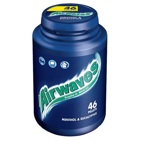 Airwaves Menthol & Eucalyptus 46 Pellets 64G Case Of 6