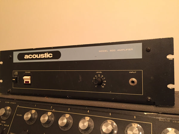 Acoustic 833 Power Amp