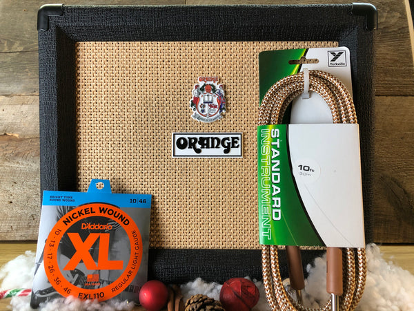 Orange Crush 20RT Guitar Combo - Black - Includes Free Yorkville Braided Cable + Strings!