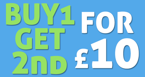 Buy 1 Get 2nd for £10!