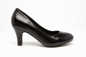 SUMMER HEEL Black 2.5 inch heel Uniform Standard Shoe