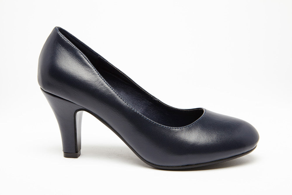 SUMMER HEEL Navy 2.5 inch heel Uniform Standard Shoe