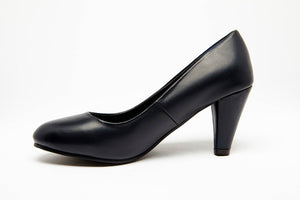 ROUND TOE HEEL - Black