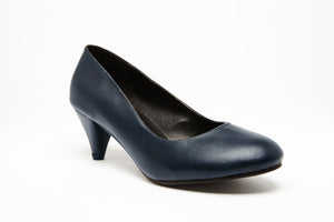 SKY KITTEN Navy 2 inch heel Uniform Standard Shoe