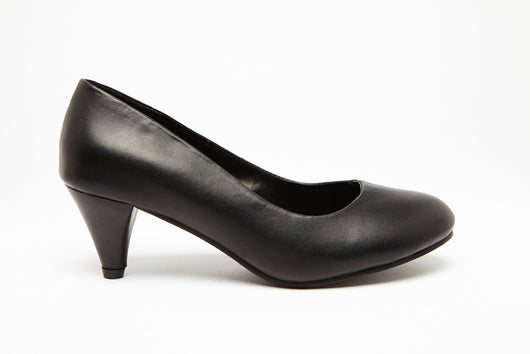 SKY KITTEN Black 2 inch heel Uniform Standard Shoe