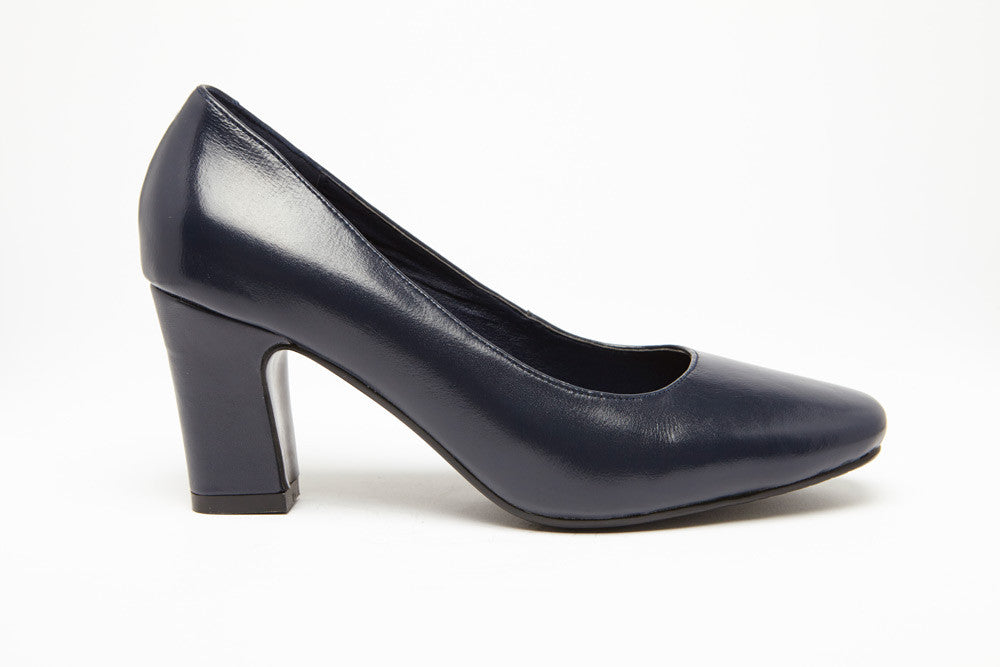 SKY WALKER Navy 3 inch heel Uniform Standard Shoe