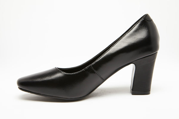 SKY WALKER Black 3 inch heel Uniform Standard Shoe