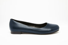 Load image into Gallery viewer, ROUND TOE FLAT Navy 0.5 inch heel Uniform Standard Shoe