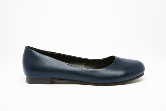 ROUND TOE FLAT Navy 0.5 inch heel Uniform Standard Shoe