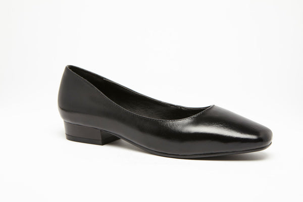 SQUARE TOE FLAT Black 1 inch heel Uniform Standard Shoe