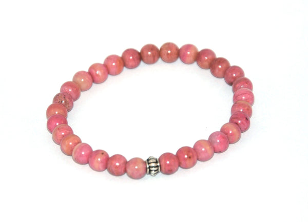 Rhodonite Stone Bracelet 6 mm