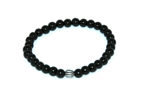 Black Agate Stone Bracelet 6 mm