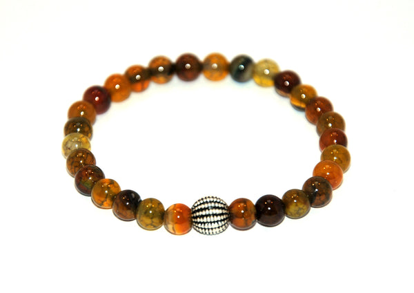 Dragon Vein Agate Stone Bracelet 6 mm