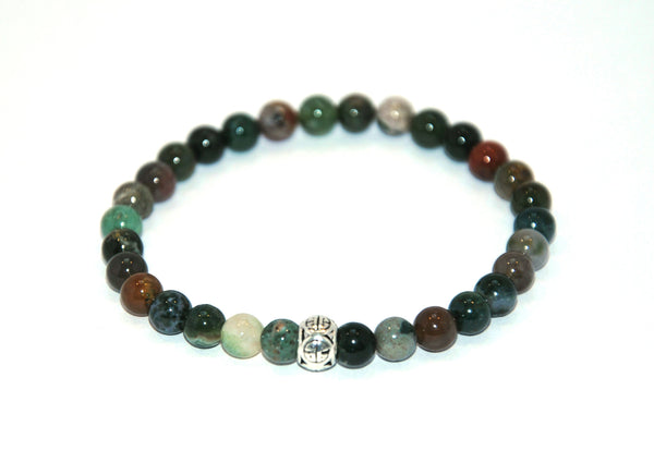Indian Agate Stone Bracelet 6 mm