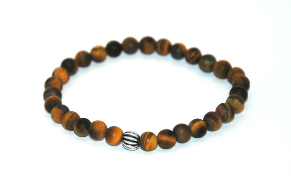 Frosted Tiger Eye Stone Bracelet 6 mm