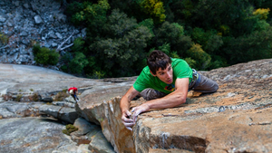 "Alex Honnold, climbs a 3000 foot cliff (""El Capitan"" in Yosemite National Park)"