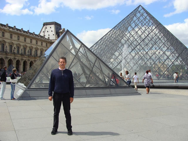 Jim at the Louvre Museum