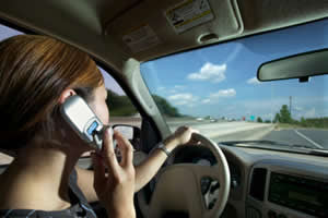 Woman Talking on the Phone While Driving