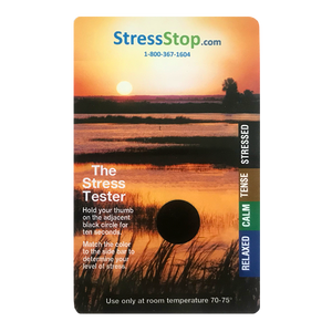 Customized Sunset Stress Testing Card