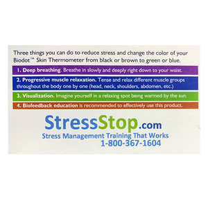 3 Dot Biodot Stress Card
