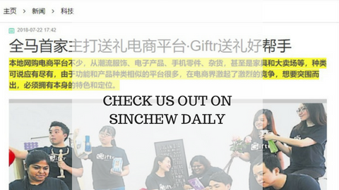 Giftr Was Featured on SinChew Daily
