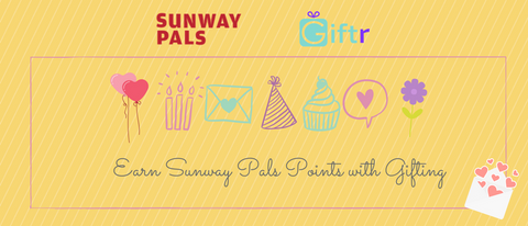 sunway pals earn pals points on Giftr