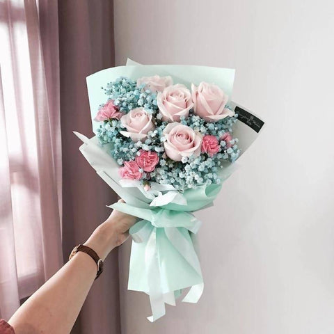 [Valentine's Special] Tiffany Rose Flower Bouquet (Johor Bahru Delivery Only)